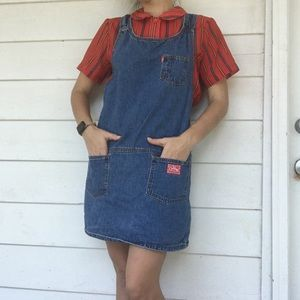Denim - Vintage Outlaw Overall Dress